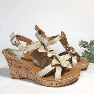 NWOT b.o.c Cork Wedge Sandals